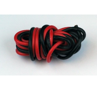 Fil silicone AWG16 - 1,32mm² rouge+noir - A2P-17160