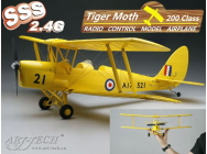 Micro Tiger-Moth RTF Art-Tech version Rouge - ART-21441-R