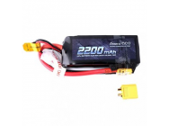 Gens ace 2200mAh 7.4V 50C 2S1P Lipo Battery W/TRX Connector - B-50C-2200-2S1P-TRX