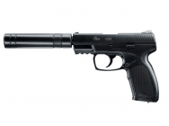 Replique PISTOLET COMBAT ZONE COP SILENCER CO2 - EUR-PG2921