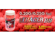 Billes 6 mm 0,20 et 0,25 G TRACER ROUGE/ FLUOBB airsoft 6mm Tracer Rouge 0.25 g - EUR-BB8536