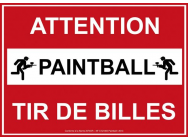 Panneau nf attention tir de billes - A707315