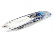 GENESIS 950mm 6S Powerboat  Blue White Flame  RTS - AMW-26049