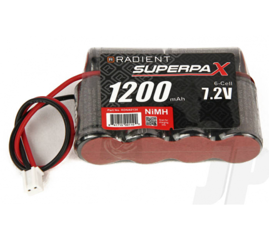 Superpax Battery NiMH 7.2V 1200mAh 2/3A 4-2 SBS-Flat, Mini  - RDNA0134