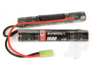 Superpax Battery NiMH 9.6V 1600mAh 2/3A Saddle-Stick, mTam  - RDNA0135