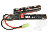 Superpax Battery NiMH 8.4V 1600mAh 2/3A Saddle-Stick, mTam  - RDNA0137