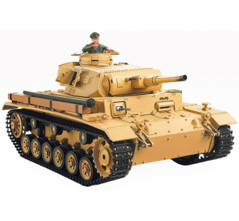 1:16 German Tauch Panzer III (2.4GHz+Shooter+Smoke+Sound) - 4400705