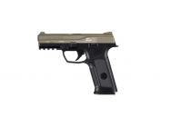 Replique pistolet GBB black leopard eyes alpha Noir culasse tan - ics - PG5020