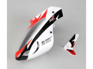 Complete White Canopy w/ Vertical Fin: MSRX - BLH3218