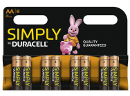 Pack de 8 piles Duracell Simply MN1500/LR6 Mignon AA Duracell - 13477