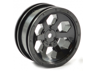 FTX OUTBACK 6HEX WHEEL (2) - BLACK - FTX8168B