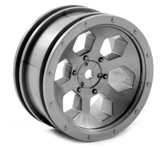 FTX OUTBACK 6HEX WHEEL (2) - GREY - FTX8168G