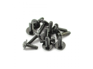 FTX FLANGE HEAD SELF TAPPING SCREWS 2.6 X 8MM (12) - FTX7294