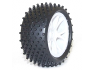 FTX VANTAGE REAR BUGGY TYRE MOUNTED ON WHEELS (PR) - WHITE - FTX6301W
