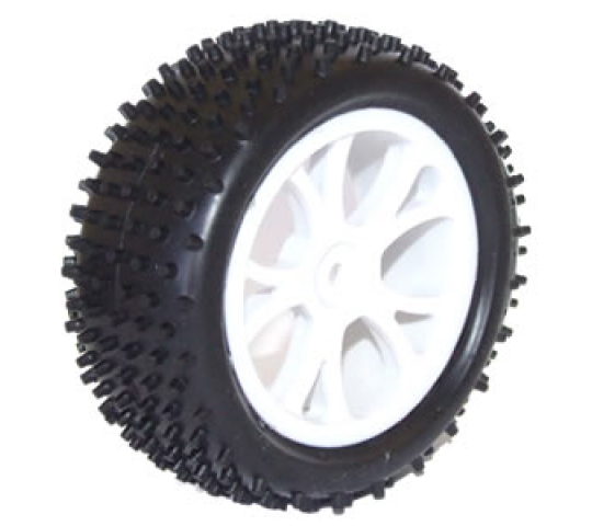FTX VANTAGE FRONT BUGGY TYRE MOUNTED ON WHEELS (PR) - WHITE - FTX6300W