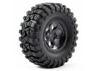 FTX OUTBACK PRE-MOUNTED 6HEX/ TYRE (2) - BLACK - FTX8170B