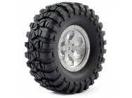 FTX OUTBACK PRE-MOUNTED 6HEX/ TYRE (2) - GREY - FTX8170G