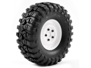 FTX OUTBACK PRE-MOUNTED STEEL LUG/TYRE (2) - WHITE - FTX8172W