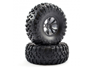 FTX OUTLAW PRE-MOUNTED WHEELS & TYRES - BLACK - FTX8335B