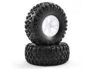 FTX OUTLAW PRE-MOUNTED WHEELS & TYRES - WHITE - FTX8335W