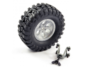 FTX OUTBACK SPARE TYRE MOUNT & TYRE/6 HEX WHEEL GREY - FTX8249