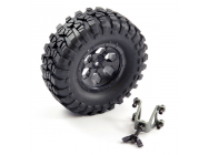 FTX OUTBACK SPARE TYRE MOUNT & TYRE/6 HEX WHEEL BLACK - FTX8249B