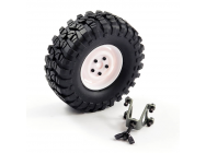 FTX OUTBACK SPARE TYRE MOUNT & TYRE/STEEL LUG WHEEL WHITE - FTX8250W