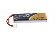 Tattu 600mAh 3.7V 30C 1S1P Lipo Battery Pack with Molex Plug(1 pcs/pack) - TA-30C-600-1S1P-Molex-1