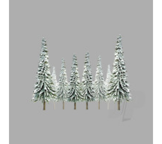 92007 Scenic-Snow Pine, 4  to 6 , HO-Scale, (24 per pack) - JTT92007