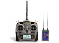 Radio 6 voies 2.4Ghz + recepteur RXC7 + cable USB Simulateur - DTM-T002