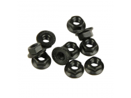 Flanged Locknuts, Serrated, M4x0.7mm (10pcs) (Four 10SC) - HLNS1156