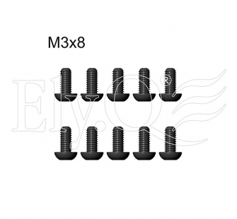 EQ30041 Sachet de Vis Button Head M3x8 (10pcs) - ELYQ-8716400A