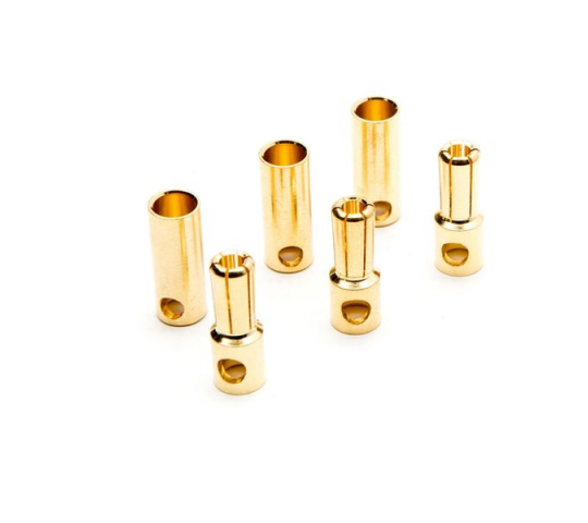 Gold Bullet Connector Set, 5.5mm (3) - DYNC0089