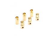 Gold Bullet Connector Set, 6.5mm (3) - DYNC0091