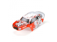 Body Set, Decorated, Red/White: 1:24 Temper - ECX200008