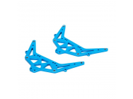 Side Plate Set, Aluminum, Blue: 1:24 4WD Temper - ECX201009