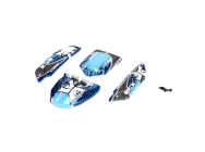 Body Set, Decorated, Blue/Grey: 1:24 Roost - ECX200010
