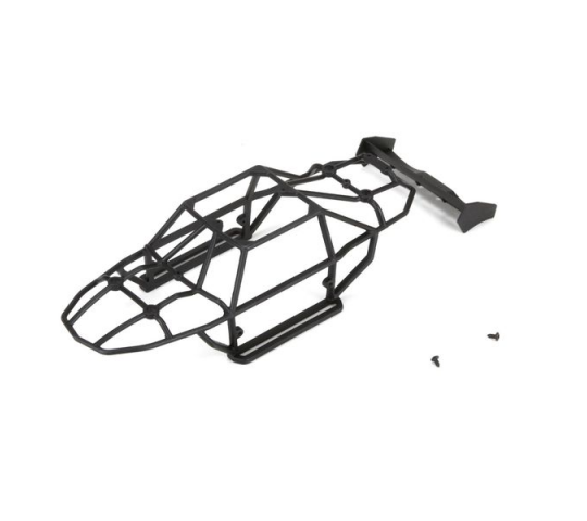 Cage & Wing Set:1:24 4WD Roost - ECX201013