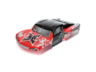 Body, Red/Silver: 1/10 2wd/4wd Torment - ECX230028