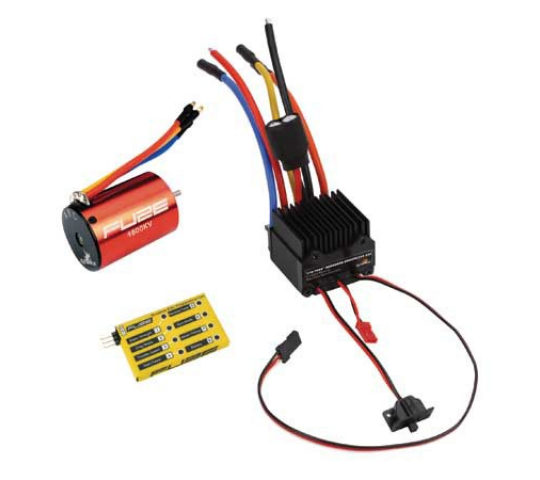 Combo moteur Brushless 1/10 sensorless 4800KV + carte de programmation - DYN-DYN3755C