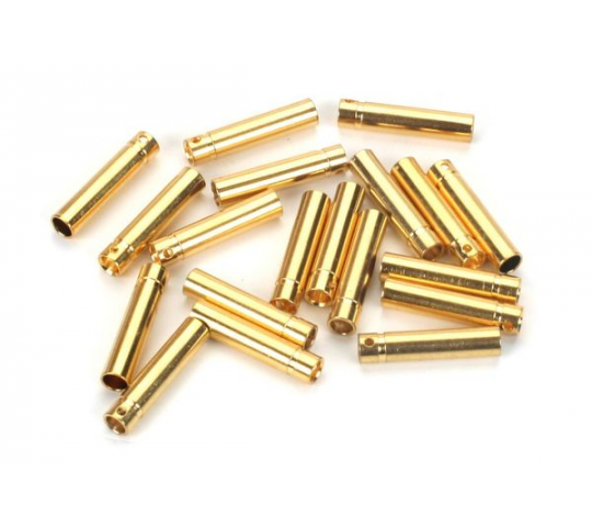 Gold Bullet Connector, Female, 4mm (30) - EFLAEC514