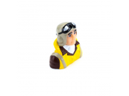 1/8 Scale WWII Pilot with Vest, Helmet & Goggles - HAN9130