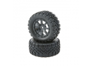 FF/RR Tire, Mounted (2): Mini 8IGHT-DB - LOS41007