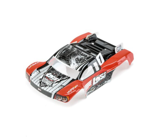 1/24 4WD Micro SCTE Painted Body Red - LOS200000