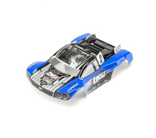 1/24 4WD Micro SCTE Painted Body Blue - LOS200002