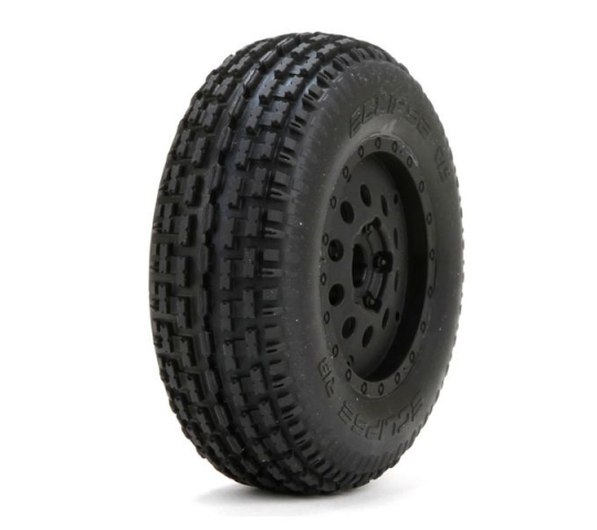 Premounted Eclipse Rib Tires/Wheels (2): XXX-SCB - LOS43002