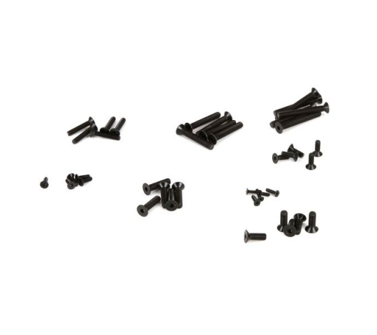 Flat Head Screw, Set, (30): 1:5 4wd - LOS255003
