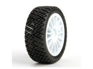 FF/RR Gravel Spec Tire,(2) Mounted: Mini Rally - LOS41006