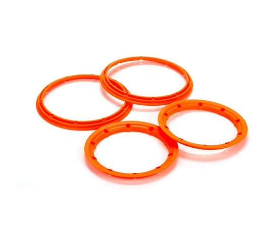 Beadlock Set, Inner & Outer Flour Orange(2): 5T - LOS45007