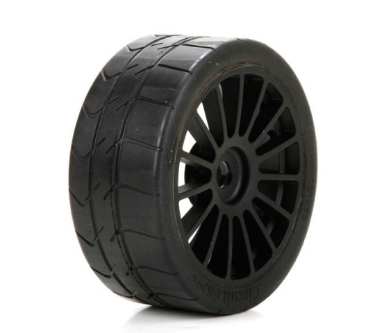 Tire, Black Wheel Mounted (2): 6IX - LOS45009
